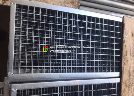 Plain Welded Steel Bar Grating Closed End 6m Length For Municipal Subgrade