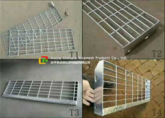 Removable Galvanized Steel Stairs , Non Slip Stainless Steel Stair Treads