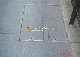 Hot Galvanised Manhole Cover With Hinge , Replacement Manhole Cover 0.1 - 2m Width