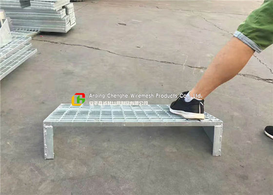 CAnti Slip Steel Stair Treads Grating Flat / Serrated Bearing Bar Heat Dissipation