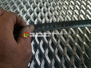Low Carbon Galvanized Expanded Metal Mesh Diamond Shape Hole For Wall Construction